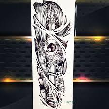 Velké Plné Ruku Flash Dočasné Tetování Nálepka Hadí Meč Modlit