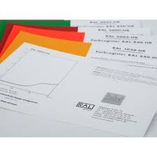 Ral 840 Hr Colour Chart Ral 840 Hr Single Cards Classic Colours Pages A5 Size