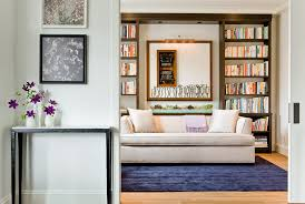 home office sofa. Boston Modern Sofa Sleeper With Contemporary Alarm Clocks Home Office And Built-in Bookcase Dark C
