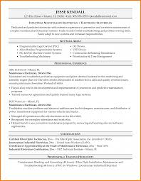 Resume Examples Electrician Industrial Sample Charming Design
