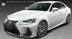 TRD JAPAN 2017-2018 Lexus IS F-SPORT Front Spoiler Kit