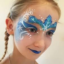 elsa face paint elsa facepaint frozen frost blue