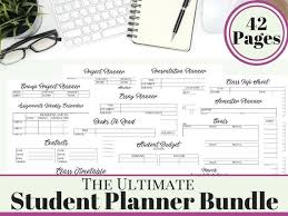College Academic Planners College Student Printable Planner 2018 2019 Back To School Etsy