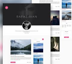 Awesome Personal Blog Website Template Free Psd Download Personal