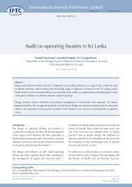 Operating Theatre Design Guidelines Pdf Audit On Operating Theatres In Sri Lanka