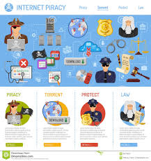 Internet Piracy Concept Stock Vector Illustration Of Infographics
