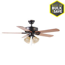 harbor breeze springfield ii 52 in bronze indoor ceiling fan with light kit