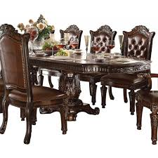 Dining Room Table Sets Leather Chairs Collection Interesting Decorating Design