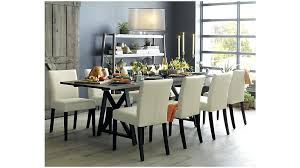 crate barrel dining table and parsons glass