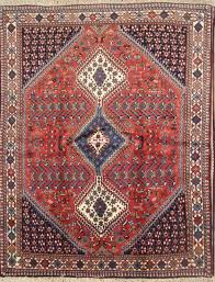 antique south west design tribal yalameh qashqai persian oriental area rug 5x6 for