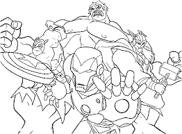 Fancy Avengers Coloring Pages 71 For Coloring Print with Avengers ...