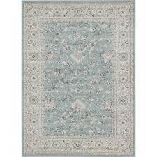 ecarpet gallery ziegler slate blue 5 ft x 7 ft area rug