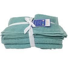 Towel Set- 2 Bath & 2 Hand Towels- Aqua - At Home | At Home