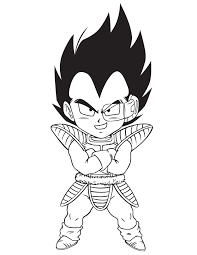 Dragon Ball Z Vegeta Coloring Page Free Printable Coloring Pages