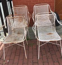 salterini wrought iron furniture. Set Of 4 Salterini Style Arm Chairs Wrought Iron Vintage Furniture S