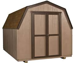 this 8x12 wooden storage building is the perfect solution for lawn gardening equipment