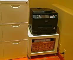 ... Astonishing Printer Stand Ikea Desks For Small Spaces With Cupboard And  Printer And Shelves ...