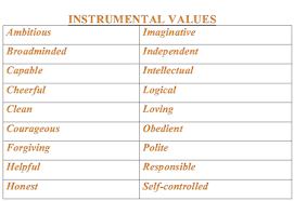 instrumental values definition examples video lesson examples instrumental values