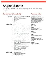 Resume For Teens Simple Resume For Teens Resume Template High School Resume Template And