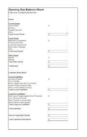 cash balance sheet template 38 free balance sheet templates examples template lab