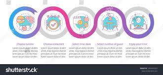 Menu Presentation Design Restaurant Vector Infographic Template Dinner Cafe Stock