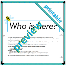 Who S Here Today Chart Printable Busy Bee Who Is Here Chart Heading