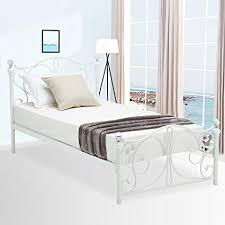 Amazon.com: Mecor Metal/Iron Princess Bed Frame/Twin Platform ...