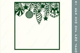 Christmas Monogram Square Frame Svg Graphic By Anastasiyaartdesign Creative Fabrica