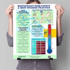 Food Hygiene Poster Restaurant Food Safety Best Hygiene Practice A3 Poster Haccp
