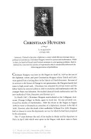 CHRISTlAAN HUYGENS