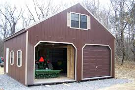 Storage Shed With Garage Door