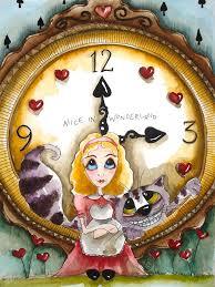 alice in wonderland painting alice in wonderland tick tock by lucia stewart