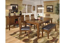 Ashley D594350100 Ralene 6piece Rectangular Dining Room Butterfly  Extensionension Table Set with Bench