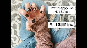How To Apply Gel Nail Strips With Dashing Diva - YouTube