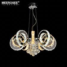 crystal chandelier light fixture modern led ring hanging re for living room dining room led crystal lamparas low voltage pendant lights pull down