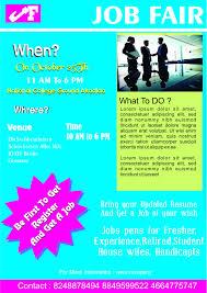 convincing job fair flyers in word psd templates demplates career fair company flyer