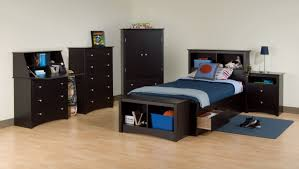 boys black bedroom furniture. laminate oak flooring used in wide room with dark boys bedroom furniture and white painted wall black s