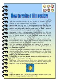 How To Write A Movie Review How To Write A Film Review Esl Worksheet By Mbp2012