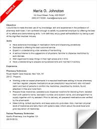 Pharmacy Technician Resume Sample Template All Best Cv Resume Ideas