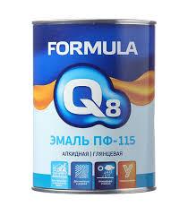 <b>Эмаль ПФ</b>-<b>115</b> белая <b>Formula Q8</b> 0,9 кг — купить в Петровиче в ...