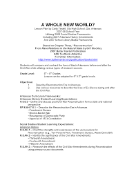 Civil War Strengths And Weaknesses Chart A Whole New World Lesson Plans Arkansas Studies