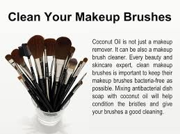 how to clean makeup brushes with coconut oil. clean your makeup brushes how to with coconut oil