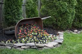 diy tipped wheelbarrow planter the