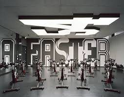 strong wall graphic- bro uebele // adidas gym spatial and interior design  2014