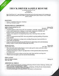 Truck Driver Resume Template Yuriewalter Me