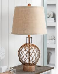 ball table lamp. rope around clear glass ball table lamp i