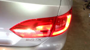 2012 Vw Jetta Brake Light Replacement 2012 Vw Jetta Sedan Testing New Tail Light Bulbs Brake Turn Signal Reverse Parking
