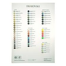 Swarovski Elements Pearl Colour Chart 2017 Printed Materials