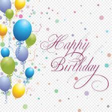 Happy Birthday Background Design Png Happy Birthday Balloons Background Color Clipart Birthday