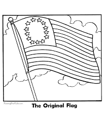 Small Picture The first American Flag printable image 002